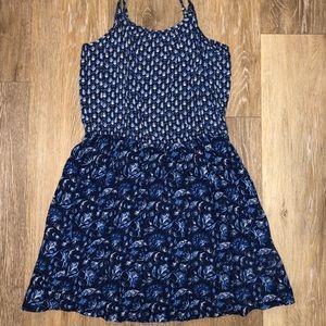 Blue Pattern Summer Dress (SIZE KIDS XS)